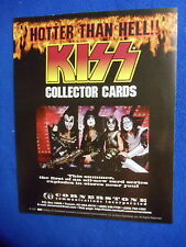 ~~ KISS ~ HOTTER THAN HELL!!  COLLECTOR CARDS PROMO FLYER ~ 1997 ~~