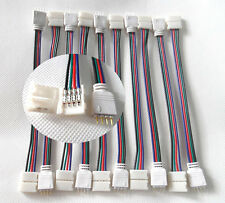 10 PCS 4PIN RGB Connector Wire Cable For 3528 5050 SMD LED Strip Male & Female W
