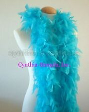 """45g 52"""" long Turquoise chandelle feather boa, diva night, dress up, dancing New"""