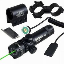Tactical Green Hunting Rifle Laser Sight Dot Scope Adjustable w/ Mount light Gun
