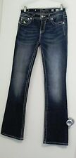 Miss Me Womens Leopard Fleur De Lis Boot Cut Jeans MP6277B Sz 30 - NWT