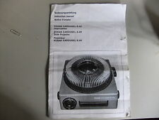 Instructions slide projector KODAK carousel S-AV GB French & German  CD/EMail