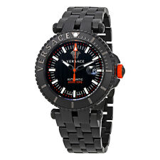 Versace V-Race Diver Automatic Black Dial Mens Watch VAL01 0016