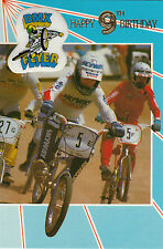 Vintage 1980's Skyway BMX Happy 9th Birthday Greeting Card ~ 9 Years Old