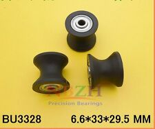 1pcs BU3328 Plastic black embedded U groove pulley bearing 6.6* 33 * 27.5*29.5mm