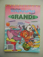 Activity Book Spanish / La Libreta De Diversiones Original Grande, Rojo