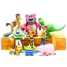 9Pcs/Lot Toy Story 3 Action Figures Doll Woody Buzz Lightyear Rex Toy For Kids