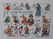 broderie point de croix Alice au pays des merveilles modèle LUCAS création