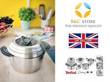 ~ Tefal OVATION best pots lids set 6 pcs Jamie Oliver stainless steel  !