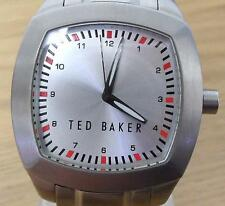 Mens Retro Style Ted Baker TB017 S/Steel Chunky Square Analog Fashion Watch