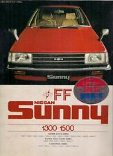 Nissan Sunny 1982 Japanese Market JDM Sales Brochure Sedan Coupe California