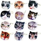 Cute Cat Animal Face Purse Coin Bag Zip Case Wallet Makeup Handbags Clutch Pouch