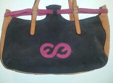 ESCADA Purple/Orange Suede Logo Shoulder Bag/Handbag/Purse