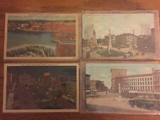 Lot of 4 Vintage Watertown NY Postcards, Court Street, Waterfalls, Public Square