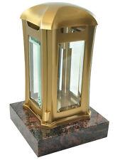 Grablaterne aus Edelstahl auf Granitsockel, Aurindi, Grablampe Grablicht