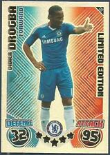 TOPPS MATCH ATTAX 2010-11- #LE2-CHELSEA-DIDIER DROGBA-LIMITED EDITION-FOIL