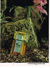 PUBLICITE ADVERTISING 104  1980  LEONARD parfum TAMANGO