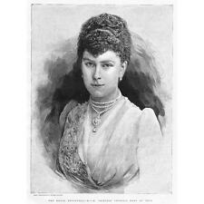HSH Princess Victoria Mary of Teck - Antique Print 1891