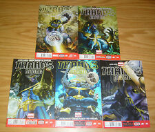 Thanos Rising #1-5 VF/NM complete series + poster - jason aaron - simone bianchi