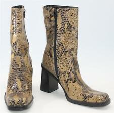 Bass Women's Aime Brown Snakeskin Print Zipper Ankle Boots Size 8 M Shoes