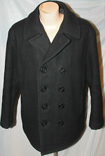 MILITARY STYLE US NAVY SPEC SCHOTT 740N PEA COAT MELTON WOOL JACKET SIZE 18