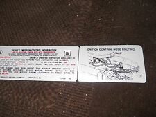 1970 BUICK GS GRAN SPORT WILDCAT RIVIERA 455 STAGE 1 EMISSIONS DECAL AUTO LATE