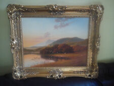 SIGNED OIL PAINTING ANDREW GRANT KURTIS M.A. (Lon) ORIGINAL ORNATE GILT FRAME