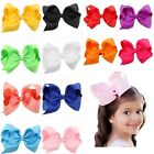 1Pcs Infant Baby Girl Toddler Hair Bows Alligator Clip Grosgrain Ribbon Headband