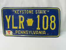 1970's Pennsylvania  Vehicle License Plate ::- YLR 108  -:: Temporary Tag