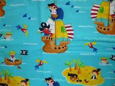 El aclaramiento FQ niños barcos piratas isla del tesoro Mar Cráneo Calavera Tela