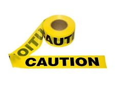 "T15101 - 12 Rolls Yellow Barrier Caution Tape 1.5 MIL 3""X1000'  Free US Shipping"