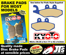 FRONT DISC BRAKE PADS TO SUIT PIAGGIO Beverly B125 (02-06) PATTERN