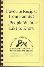 SOUTH ELGIN IL 1984 ANDERSON ANIMAL SHELTER COOK BOOK *FAMOUS PEOPLE'S RECIPES