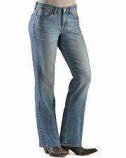Wrangler Women's Aura Instantly Slimming Embroidered Pocket Bootcut Jeans 22 S