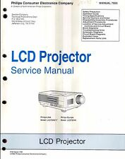 Philips original Service Manual para LCD-proyector LC 2700g/17 u. LC 2700/40