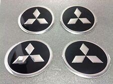 Autocollant Sticker Centre de Roue Cache Moyeu Jante Alu pour MITSUBISHI 4x60mm