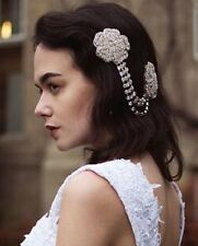 Vintage Headpiece Rhinestone Flower Hair Clip Headdress 1920s Bridal Flapper R18