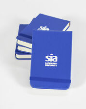 SIA Security Notebook SIA Approved Licensed Security