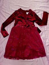 American Girl Sz 8 Dress Sparkly Plum Outfit for Girl Purple Holiday Velveteen