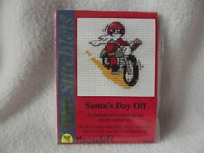 MOUSELOFT STITCHLETS CROSS STITCH KIT ~ SANTA'S DAY OFF ~ CHRISTMAS ~ NEW