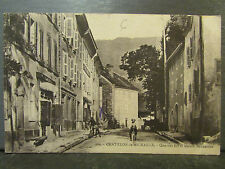 cpa 01 chatillon de michaille quartier est maison bonneville animee