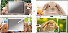 nintendo DS Lite  CUTE BUNNY RABBIT 4 Piece Decal / Sticker Skin