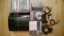 Sony PS3 FAT Lady dick 60GB +2 Controller +34 Spiele Playstation 1 2 X 3 TOP 90