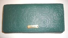Buxton Women's Genuine Leather Wallet, Pine Needle Green