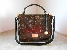 New BRAHMIN CECELIA L61716BW Brown Umbria Floral Shoulder Bag NWT $395