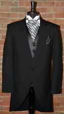 MENS 44 R BLACK RAFFINATTI  CUTAWAY JACKET TUXEDO MORNING COAT
