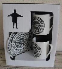 COALPORT CHARACTERS THE BEATLES COLLECTION ESPRESSO CUP AND SAUCERS NEW & BOXED