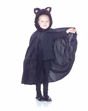 VELVET CAT CAPE kitty girls kids toddler halloween costume dress up ONE SIZE