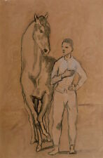 Pablo Picasso Horse with a Youth in Blue 1905-6 Animal Print Poster 11x14