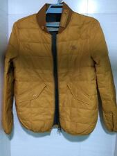 $795 Burberry Brit Down-Filled Quilted Bomber Yellow Jacket Size XSmall-Small